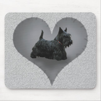 Heart Scottie Mouse Pad