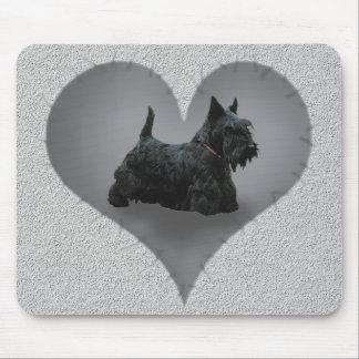 Heart Scottie Mouse Pad