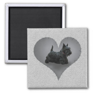 Heart Scottie Refrigerator Magnets