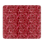 Heart Scribbles Ruby Red Cutting Board