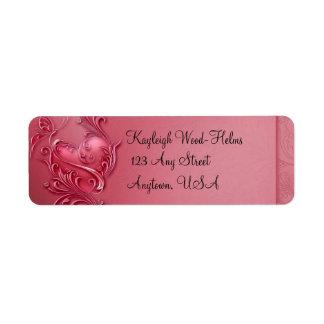 Heart Scroll Label