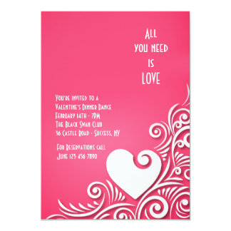 Heart Sculpture Valentine's Day Invitations
