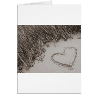 Heart Sepia Image Card