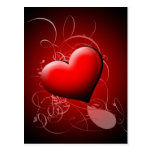 Heart Shadow Abstract Post Card