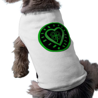 Heart & Shamrock for your Pets - St Patrick's Day Pet T Shirt