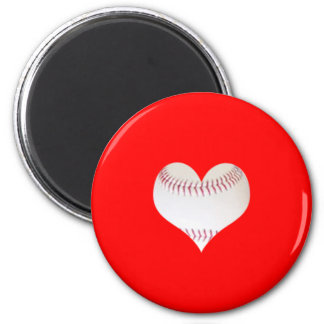 Heart Shape 2 Inch Round Magnet