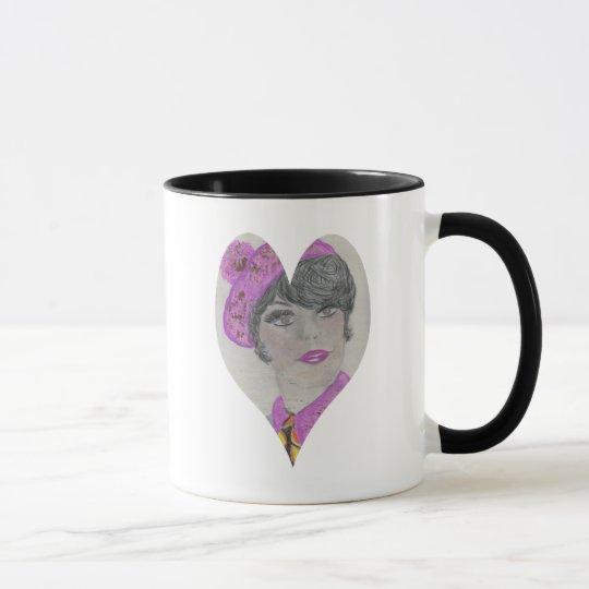 Heart Shape 60s Model Mug