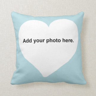Heart shape Add your photo Pillow