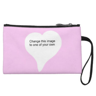 Heart shape Add your photo Wristlet