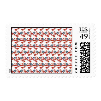 Heart Shape and the American Flag Pattern Postage