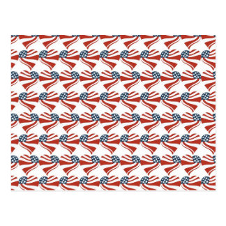 Heart Shape and the American Flag Pattern Postcard