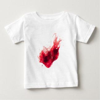 Heart Shape Blood Splatter Baby T-Shirt