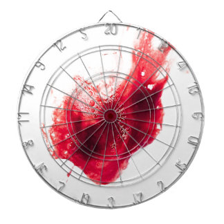Heart Shape Blood Splatter Dart Board