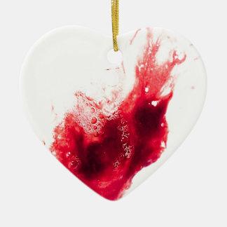 Heart Shape Blood Splatter Ornaments