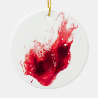 Heart Shape Blood Splatter Christmas Tree Ornament