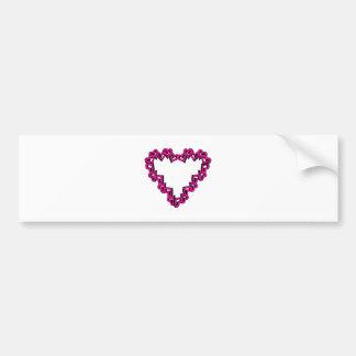 Heart Shape Car Bumper Sticker