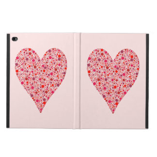 Heart Shape Crimson Polka Dots on Pink Powis iPad Air 2 Case