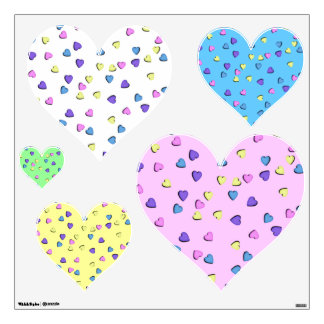 Heart Shape Decal - Candy Hearts Room Graphics