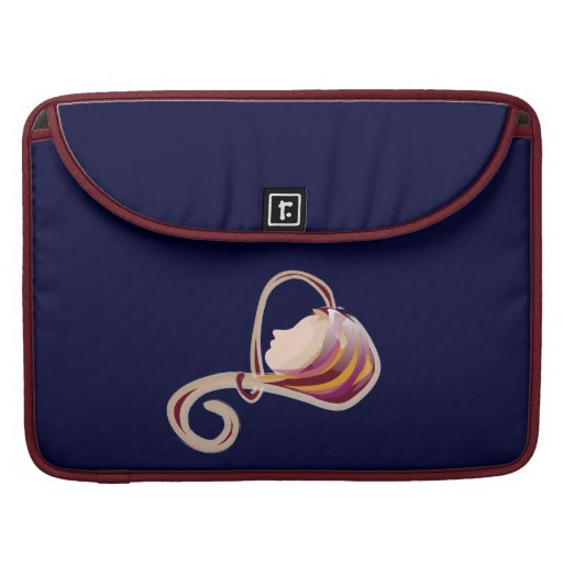 Heart Shape Face - Red Sleeves For MacBook Pro