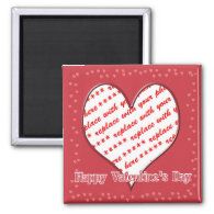 Heart Shape Frame 2 Inch Square Magnet