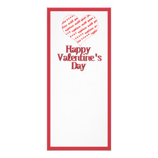 Heart Shape Frame Rack Cards