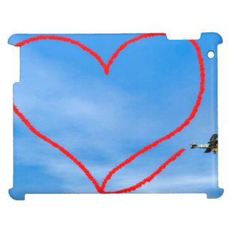 Heart shape from biplan smoke - 3D render Case For The iPad