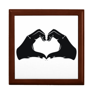 Heart Shape Hands Illustration with black hearts Gift Box