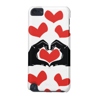 Heart Shape Hands Illustration with red hearts iPod Touch 5G Cover