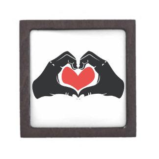 Heart Shape Hands Illustration with red hearts Keepsake Box