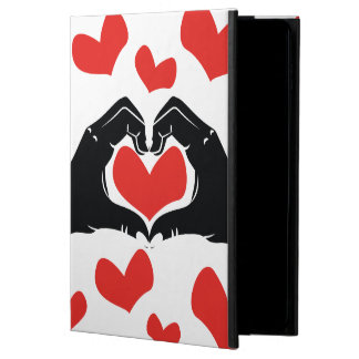 Heart Shape Hands Illustration with red hearts Powis iPad Air 2 Case
