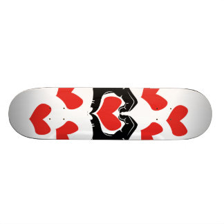 Heart Shape Hands Illustration with red hearts Skateboard