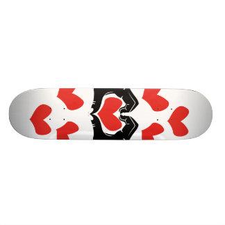 Heart Shape Hands Illustration with red hearts Skateboard Deck