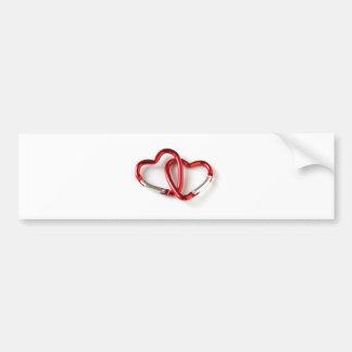 Heart shape key chain. Love Bumper Sticker