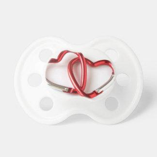 Heart shape key chain. Love Pacifier