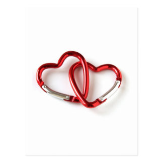 Heart shape key chain. Love Postcard