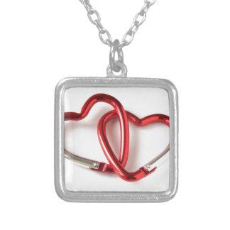 Heart shape key chain. Love Square Pendant Necklace