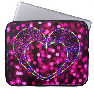 Heart Shape Light Laptop Sleeve