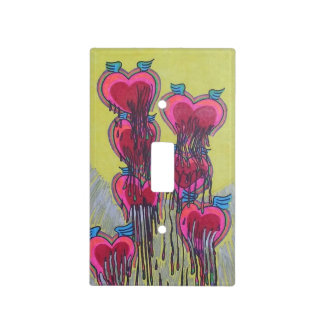 heart shape melted crayons switch plate covers