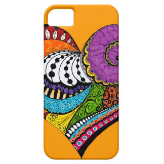 Heart shape on postcard - drawing iPhone 5 case