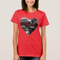 Heart Shape Personalized Photo T-Shirt
