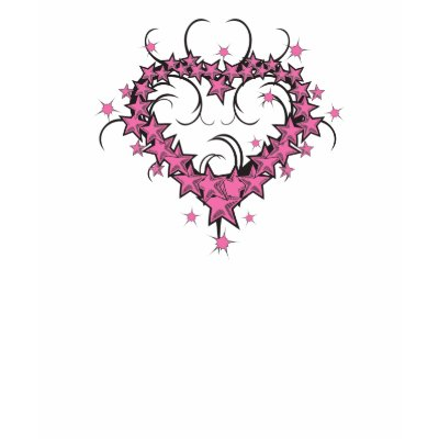 tattoo designs of stars. heart shape stars tattoo