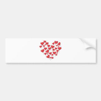 Heart Shape Using Heart Balloons Bumper Sticker