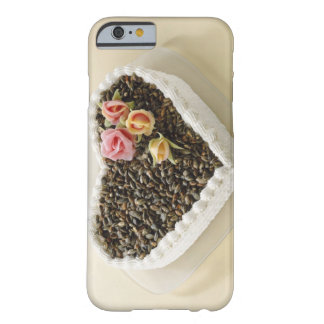 Heart shape wedding cake with flower, close-up barely there iPhone 6 case
