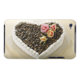 Heart shape wedding cake with flower, close-up iPod Case-Mate case