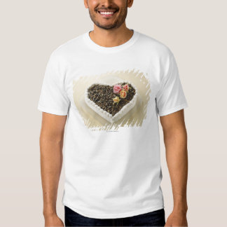 Heart shape wedding cake with flower, close-up T-Shirt
