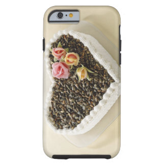 Heart shape wedding cake with flower, close-up tough iPhone 6 case