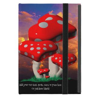 Heart Shaped Amanita Muscaria Mushrooms Cover For iPad Mini