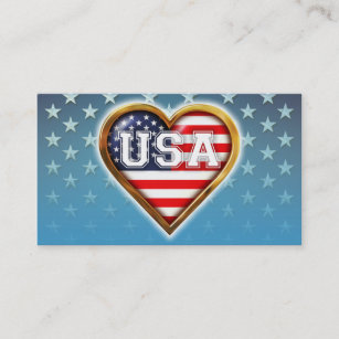 Heart shaped business cards templates zazzle heart shaped american flag business card colourmoves