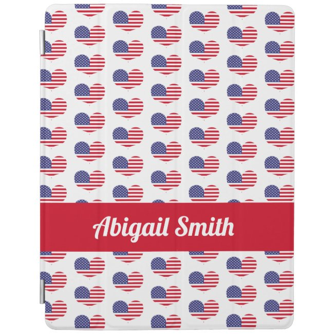 Heart Shaped American Flag Pattern | Personalized
