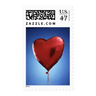 Heart shaped balloon postage